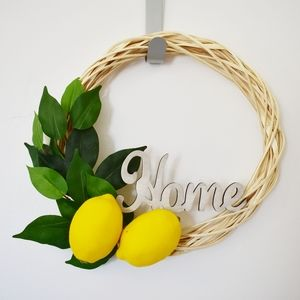 "12"" Willow Lemon ""Home"" Wreath"